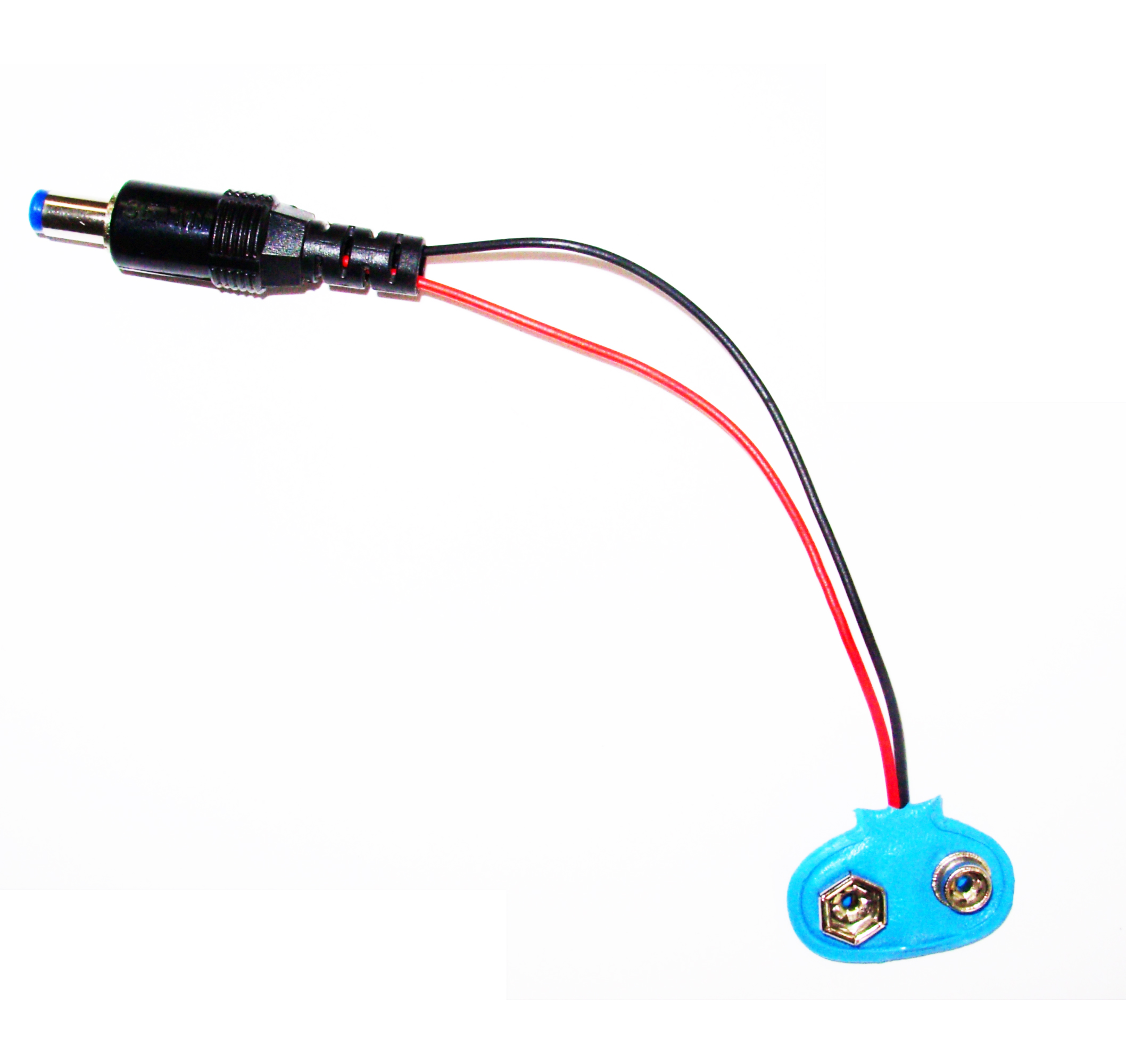 Dc Plug Wiring Assembly Male To 9v Battery Clip